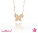 Colgante de oro 24 k Mariposa