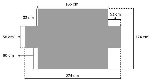 Medidas de funda de sofá