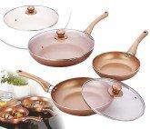 SET DE 3 SARTENES DE COBRE COPPER PAN