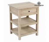 Mesa con dos estantes - Colección Pure Life by Craftenwood