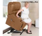 Sillón Relax Levantapersonas con Masaje Cecorelax Camel 6010