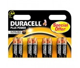 Pilas Alcalinas DURACELL Plus Power DURLR6P8B LR6 AA 1.5V (8 pcs)