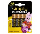 Pilas Alcalinas DURACELL Simply DURSIMLR6P4B LR6 AA 1.5V (4 pcs)