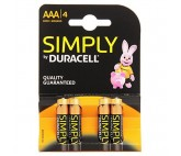Pilas Alcalinas DURACELL Simply DURSIMLR3P4B LR03 AAA 1.5V (4 pcs)