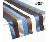 Camino de mesa motegi azul - Colección Colored Lines by Loom In Bloom