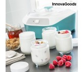 Yogurtera Vintage con 6 Tarros InnovaGoods 1 L 20W Blanco Turquesa